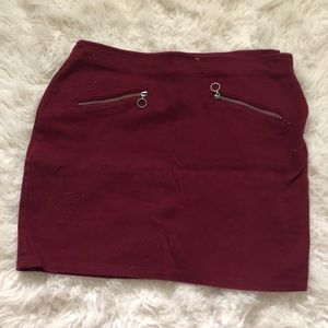 NWOT MAROON MINI SKIRT